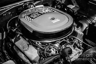 Chrysler 440 Magnum Six Pack Motor Art Print by Paul Velgos