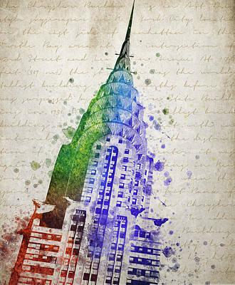 Skylines Digital Art - Chrysler Building by Aged Pixel