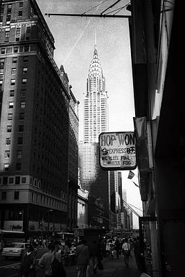 Photograph - Chrysler Building And Chinese Food by Dave Beckerman