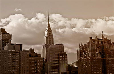 Skyline Photograph - Chrysler Building And The New York City Skyline by Vivienne Gucwa