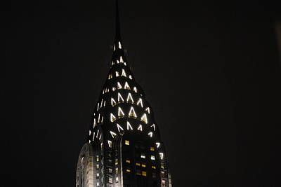 Photograph - Chrysler Building At Night by Robert  Moss