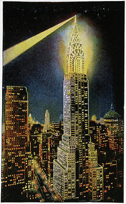 Manhattan At Night Photograph - Chrysler Building by Cci Archives