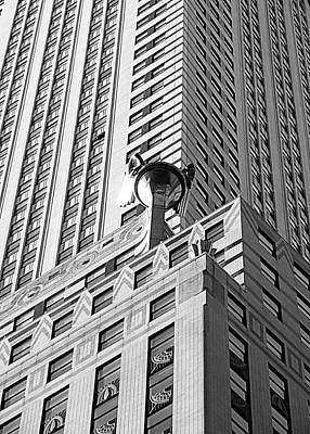 Photograph - Chrysler Building Closeup by Valentino Visentini