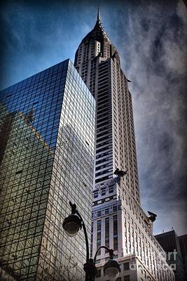 Photograph - Chrysler Building From Below by Miriam Danar