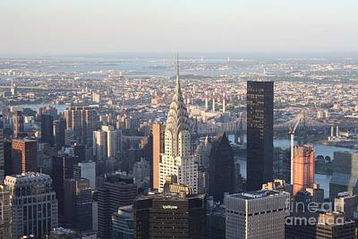 Photograph - Chrysler Building From The Empire State Building by John Telfer