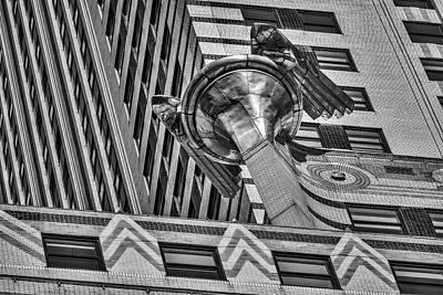 Chrysler Building Photograph - Chrysler Building Gargoyle Bw by Susan Candelario