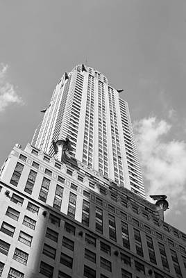 Photograph - Chrysler Building In Black And White by Michael Dorn