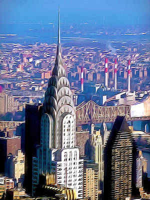 Chrysler Building In Midtown Manhattan  Print by Lanjee Chee