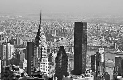 Photograph - Chrysler Building New York Black And White by Steve Purnell