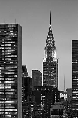 Chrysler Building New York City Bw Art Print