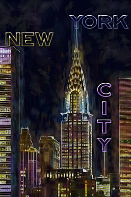 Digital Art - Chrysler Building New York City Nyc by Susan Candelario