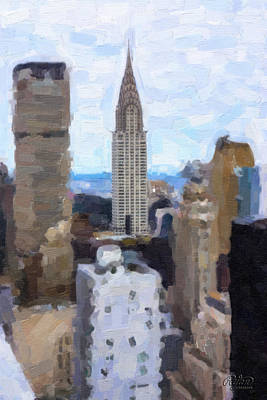 Wall Art - Digital Art - Chrysler Building by Ryan Cosgrove