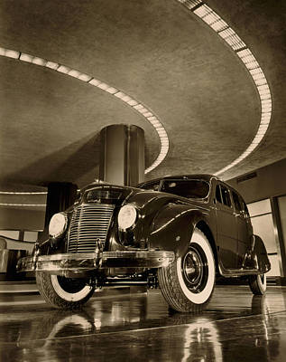 American Automobiles Photograph - Chrysler Building Showroom by Underwood Archives