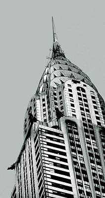 Chrysler Building Drawing - Chrysler Building Spire by David M Davis