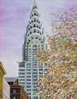 Painting - Chrysler Building by Thomas Michael Meddaugh