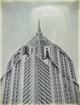 Photograph - Chrysler Building Vintage Look by Dick Wood