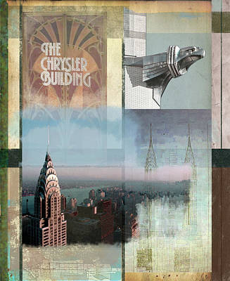 Chrysler Building Painting - Chrysler Collage by Andrew Sullivan