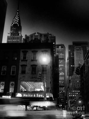 Photograph - Chrysler Noir by Miriam Danar