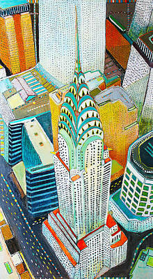 Chrysler Building Mixed Media - Chrysler Of Manhattan by Habib Ayat