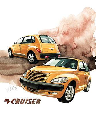 Cruiser Painting - Chrysler Pt Cruiser by Yoshiharu Miyakawa