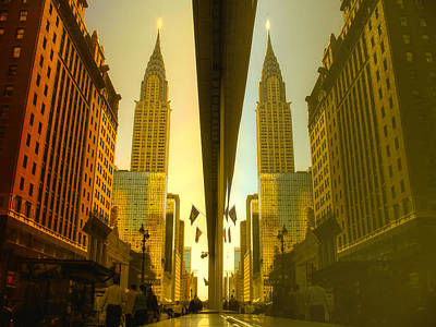 Chrysler Reflection On 42nd Street Art Print