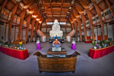 Chaste Photograph - Chuang Yen Buddhist Monastery by Susan Candelario