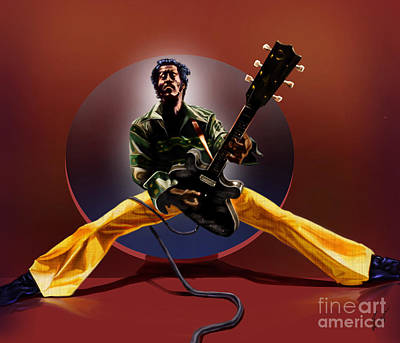Chuck Berry - This Is How We Do It Print by Reggie Duffie