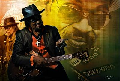 Chuck Brown Art Print