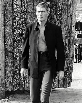 Chuck Connors In Branded  Art Print by Silver Screen