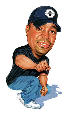 Caricature Painting - Chuck D by Art
