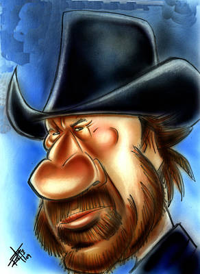 Chuck Norris Drawing - Chuck Norris by Big Mike Roate
