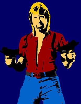 Chuck Norris Painting - Chuck Norris Pop by Paul Van Scott