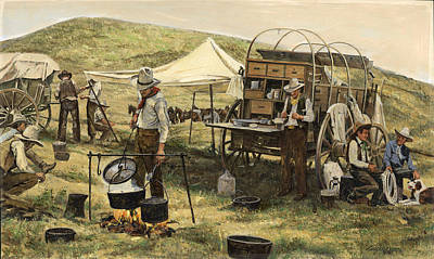 Chuck Painting - Chuck Wagon by Don  Langeneckert
