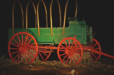 Carriage Driving Painting - Chuck Wagon  by L Wright