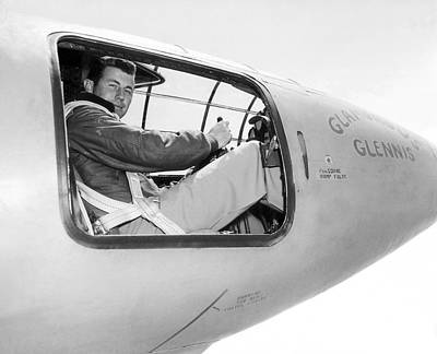 Test Pilot Photograph - Chuck Yeager And Bell X-1 by Underwood Archives