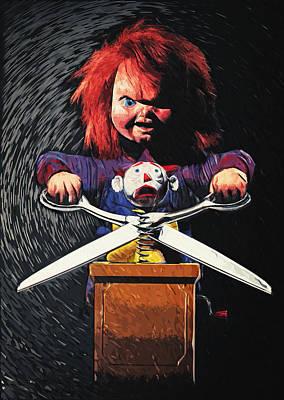 Poster Digital Art - Chucky by Taylan Apukovska