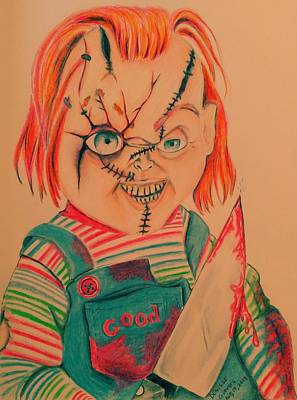 Drawing - Chucky's Back by Denisse Del Mar Guevara