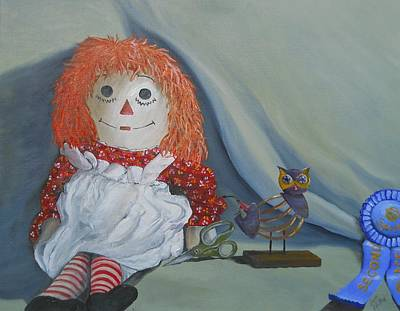 Raggedy Ann Painting - Chucky's First Love by Scott Phillips