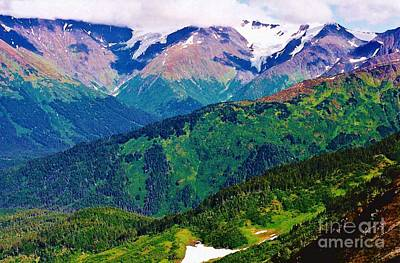 Photograph - Chugach Mountain Range by D Hackett