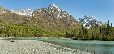Chugach Mountains And Eagle River Art Print by Panoramic Images