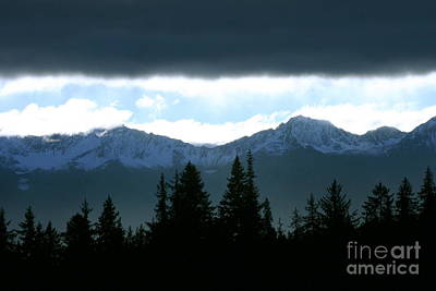 Chugach Mountains Print by Crystal Magee