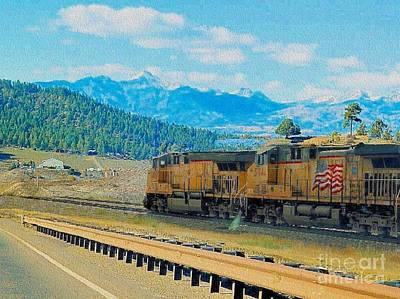 Photograph - Union Pacific 5944 In Colorado by Janette Boyd