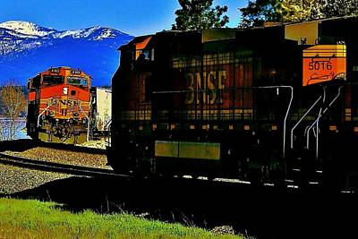Sandpoint Photograph - Chugging Past by Benjamin Yeager