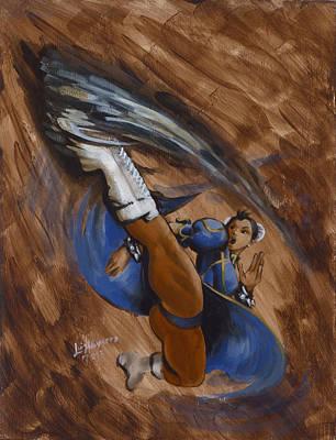 Kung Fu Painting - Chun Li by Luis  Navarro