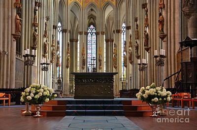 Photograph - Church Altar Platform Glass Art Cologne Germany by Imran Ahmed