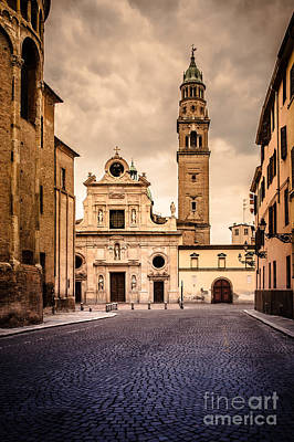 Photograph - Church And Bell Tower In Parma Italy by Silvia Ganora