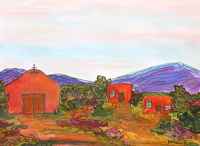Painting - Church And Casitas by Kerry Bennett