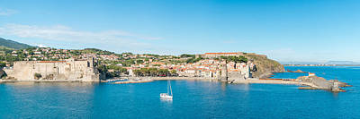 Collioure Photograph - Church And Castle In A Town, Chateau by Panoramic Images
