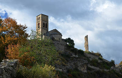 Prison Photograph - Church And Castle In Puente De Montanana  by RicardMN Photography