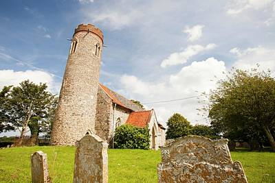 Grave Yard Photograph - Church And Churchyard by Ashley Cooper